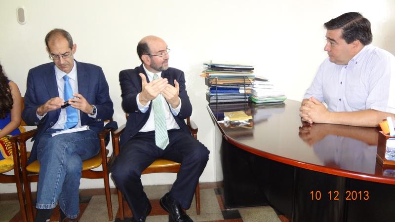 Visita del Embajador de Israel, Eliyahu Yersuhslami, a Zaruma